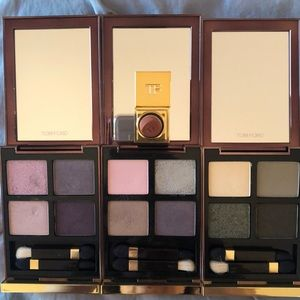 3 Tom Ford eyeshadow palettes and a lipcolor
